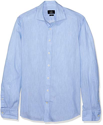 Hackett London Pl Melange Multi Trim, Camisa para Hombre, Azul (501lt Blue 501), Medium