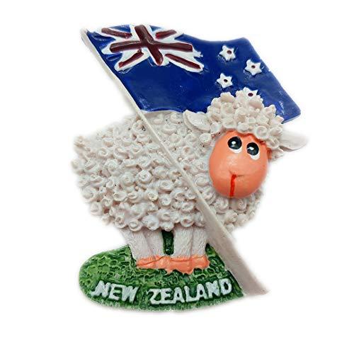Kreative Flagge Schafe Neuseeland 3D Kühlschrank Kühlschrankmagnet Reise Stadt Souvenir Sammlung Küche Dekoration Weiß Bord Aufkleber Harz