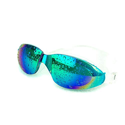 Rentlooncn Bunte Überzug-wasserdichte Anti-Nebel große Kasten-Schutzbrillen-Erwachsene Berufsschwimmen-Glas-Anti-UVschutzbrillen-Schwimmen-Schutzbrillen