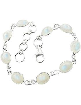 925Sterling Silber 9Mondstein oval verstellbar Armband–viele Glaube, Mondstein ist ein