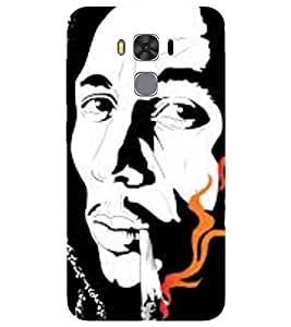 For Asus ZenFone 3S Max :: Asus Zenfone 3s Max ZC521TL :: ZenFone 3s Max (ZC521TL) :: Asus Zenfone Max 3S famous man, black white man, man Designer Printed High Quality Smooth Matte Protective Mobile Case Back Pouch Cover by APEX ELEGANT