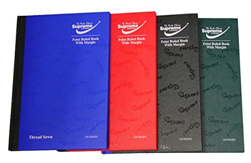 Pack of 5 x A5 Assorted 120 page Hardback 80GSM books