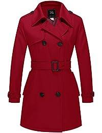 ZSHOW Cappotto Doppiopetto con Cintura Trench Coat Donna b06bb9935bf