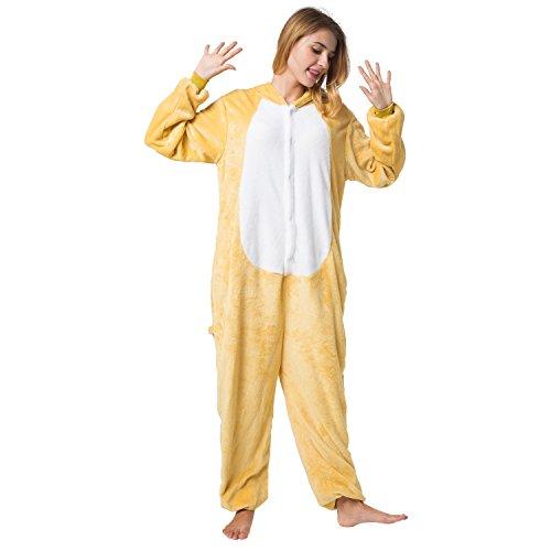 Katara 1744 -Fledermaus Kostüm-Anzug Onesie/Jumpsuit Einteiler Body für Erwachsene Damen Herren als Pyjama oder Schlafanzug Unisex - viele verschiedene Tiere Rilakkuma Bär
