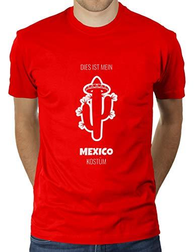 Dies ist Mein Mexico Kostüm - Faschingskostüm Karnevalskostüm - Herren T-Shirt von KaterLikoli, Gr. M, (Keine Kostüm Meme)
