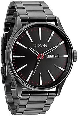 Nixon Sentry - Reloj Analógico de Cuarzo para Hombre, correa de Acero inoxidable color Gris