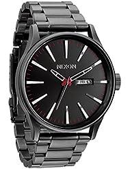 Nixon Herren-Armbanduhr XL Sentry Analog Quarz Edelstahl A356-131-00
