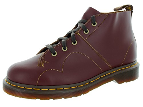 Dr.Martens Womens Monkey 5 Eyelet Vintage Smooth Leather Boots Rouge