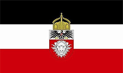 U24 Fahne Flagge Deutsch Ostafrika mit Krone Bootsflagge Premiumqualität 150 x 250 cm