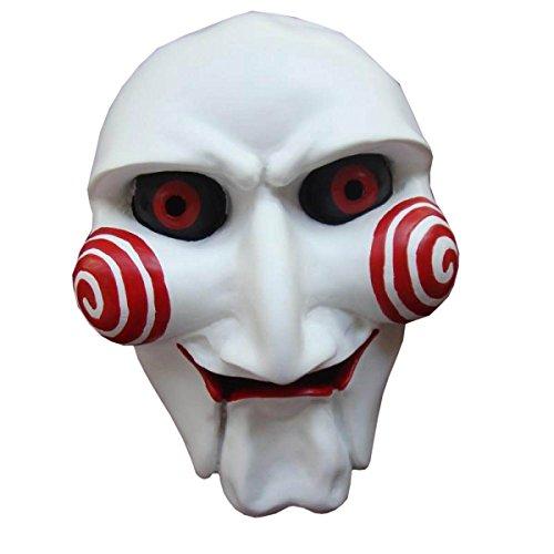 Nihiug Halloween Cos Saw Crack Mask Terror Ball Partido Blanco Matar Diablo Maquillaje Máscara Hombres Novedad Caucho De Látex Creepy Scary,A