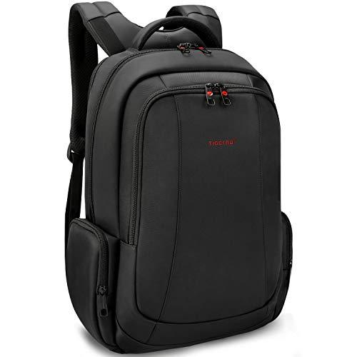 Tigernu Business Laptop Rucksack Ultradünne Anti-Diebstahl-Reise Computer Rucksack umweltfreundliche Laptop-Tasche männlich / weiblich 15,6 Zoll schwarz Rand Pullover