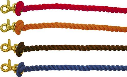 Kordelzügel aus Baumwolle für Pony Games, rot