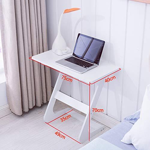 DANADESK Mit-geformt Laptappp-Schalter, Einfache Kleiner Computer-Schalter Beistelltisch Schlafzimmer Wohnzimmer Wohnheim Zimmer Modernen Stil-b 75x40cm(30x16inch) - Modern Geformte Beistelltisch