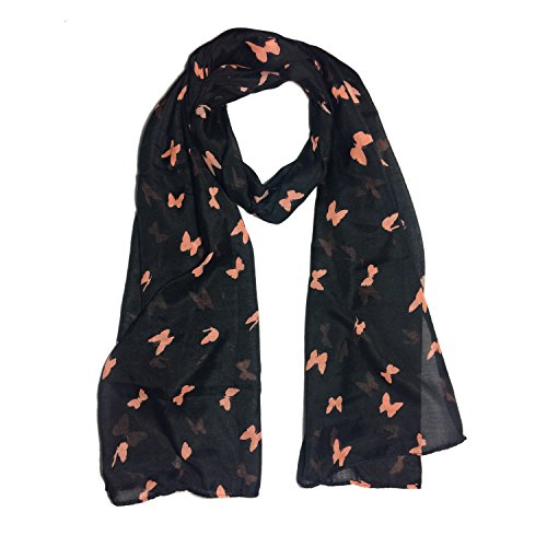 Clapcart Butterfly Designer Printed Scarf and Stoles Chiffon Multicolored for Girls / Ladies / Women - Clapcart-S025  available at amazon for Rs.99