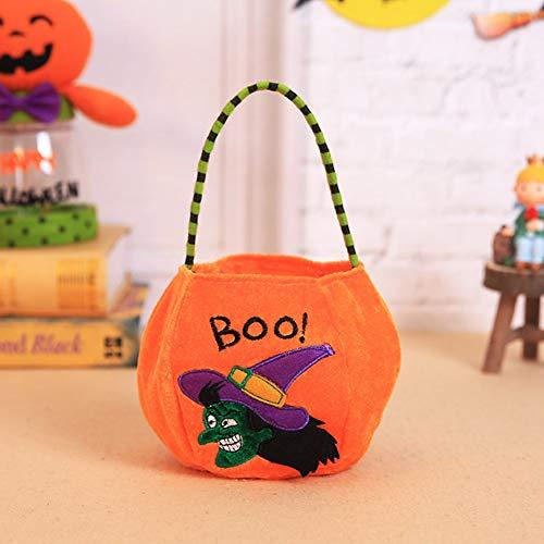 Ailizhen Tragetasche Halloween Candy Bag Kinder Tragbare Candy Bag Halloween Zubehör Requisiten, Orange (Orange) - ZO:ALRVLQ3243