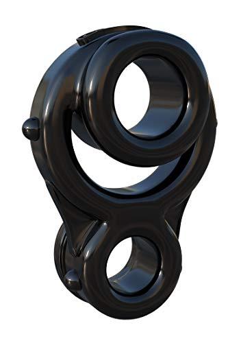 Fantasy C-Ringz - Ironman Triple Ring - Penis-/ Hodenring + Hodenstrecker - schwarz