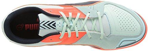 Puma  Invicto Sala, Chaussures de futsal hommes Bleu (Fair Aqua/Total Eclipse/Lava Blast)