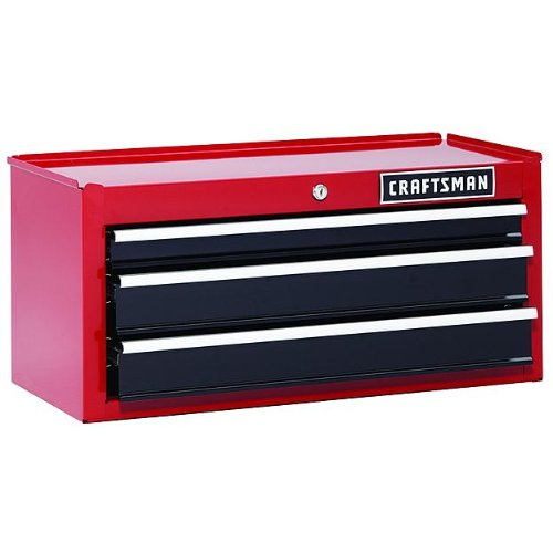 Craftsman 26in. Kommode mit 3Schubladen Robuste Kugellager Mitte Brust–Rot Tool Box 6Limited Garantie (Stahl Brust-tool-box)