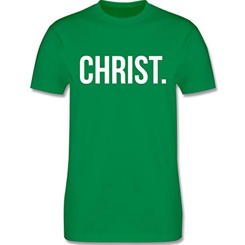 Statement Glaube Religion - Jesus Christ weiss - Herren T-Shirt Grün