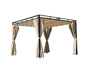 seitenwand set 4tlg zu flachdachpergola firenze sand. Black Bedroom Furniture Sets. Home Design Ideas