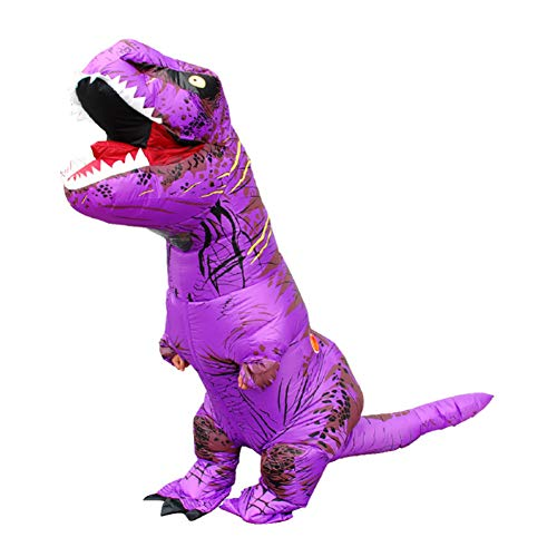 Ropa Inflable de Tiranosaurio Vestido Interesante Dinosaurio Trajes Rendimiento Disfraz Fiesta Carnaval Halloween T Rex Inflatable Dinosaur Costume Tyrannosaurus Hinchable Cosplay Adulto
