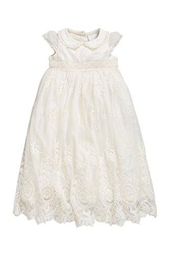 next Baby Mädchen Vintage Kleid Für Besondere Anlässe (0 Monate Bis 2Jahre) Ecru 9-12 Monate
