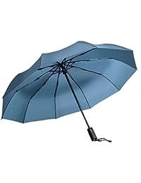 "Paraguas de Viaje Vanwalk Paraguas Plegable Automático para Viajar - ""Dupont Teflon"" 10 Costillas Resina-Reforzada con Fibra de Vidrio (Azul Oscuro)"
