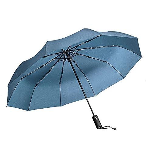 """Parapluie Pliant de Voyage Vanwalk Parapluie Pliable Automatique Résistant Au Vent, Compact et Solide, Une canopée de 45"""" 210T tissu - Bleu"""
