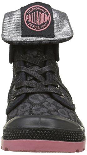 Palladium Baggy Leo K, Baskets Hautes Fille Noir (315 Black)
