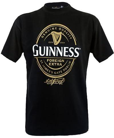 Guinness Official Merchandise T-shirt Imprimé Crew Short Homme - Noir