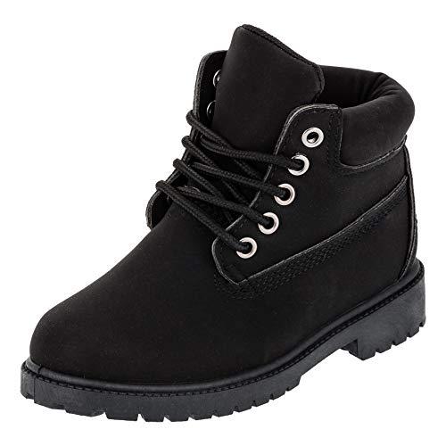 r Jungen und Mädchen Unisex Stiefel Reißverschluss Schnürsenkel M444sw Schwarz 32 EU ()