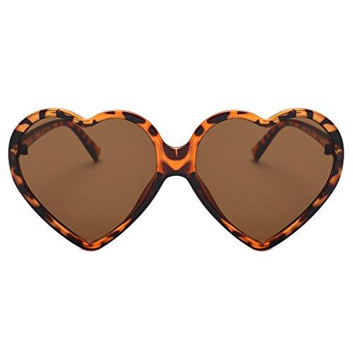 Makefortune 2019 Frauen Sonnenbrillen, Frauen Retro Fashion Heart-shaped Shades Damen Sonnenbrille Integrierte UV400-Brille