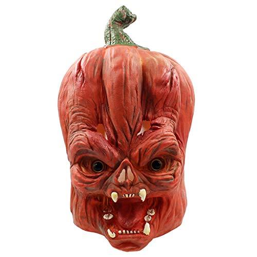 FBGood Neu Halloween Maske, Beängstigend Kürbis Kopf Latex Erwachsene Vollkopfmasken Unheimlich Kostüm Party Requisiten Perfekt für Fasching, - Beängstigend Kostüm Für Hunde