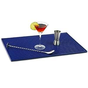 Service Bar Mat 12 X 18inch Blue Bar Drinkstuff Rubber