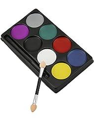 Peinture Corporelle de 12 Couleurs de Peinture Pigment Corps Théâtre / Clown / Maquillage Décor Halloween / Couleur du Visage Peinture à Eau Maquillage Body Painting Deguisement