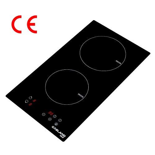 30cm Induktionskochfeld, GASLAND chef IH30BF 2 Zonen Induktions Kochfeld, mit Sensor-Touch Display/Kindersicherung/Timer