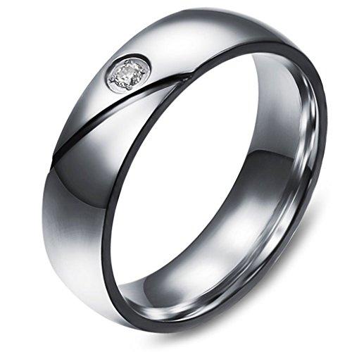 Aooaz Schmuck Unisex Ring,Intarsien CZ Herz Edelstahl Ehering Verlobungsringe Silber Schwarz Gold (Outfits Männer Sexy Finden)