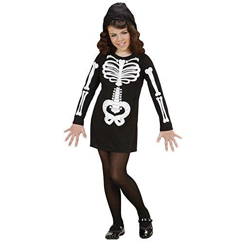 Widmann 74617 - Kinderkostüm Skelett Girl, Kleid mit -