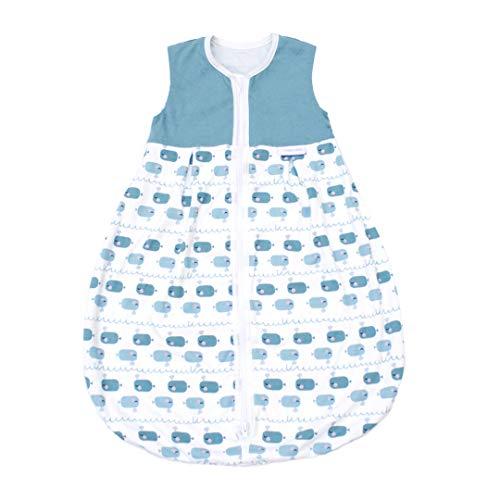 Emma & Noah Baby Sommer Schlafsack (1.0 Tog), 100{1809583c37624296cce5790e62b0574fd63c53989aca4aff1e998986ab3ccf2e} Baumwolle, ideal als Kugelschlafsack, Übergangsschlafsack, Babyschlafsack, Strampelsack, Junge, 0-6 Monate / 70 cm