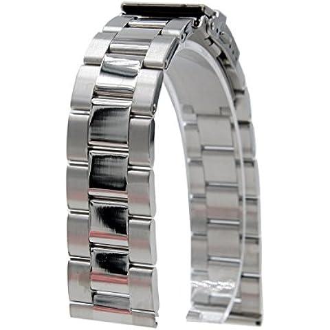 20mm Pulsera De Acero Inoxidable Del Reloj De La Correa De La Venda De Reloj + herramienta 2 pasadores para Samsung Gear S2 Classic platino SM-R7320 Smartwatch (plata A)