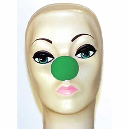 Goshman grün Schaumstoff Clown Nase (15/20,3cm) (Gum Kleber Spirit)