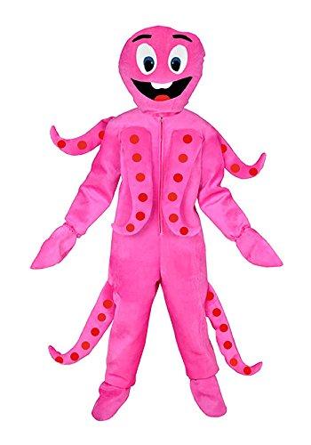 Oktopus Kostüm - Krake pink Einheitsgrösse L -XL Kostüm Oktopus Fasching Karneval Hai Tintenfisch