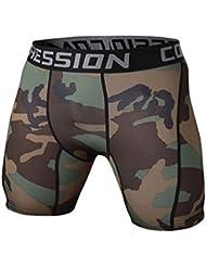 YiJee Homme Séchage Rapide Sports Pantalon Court Tight Jogging Aptitude Compression