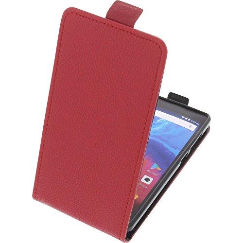 foto-kontor Tasche für Archos Core 50 Smartphone Flipstyle Schutz Hülle rot