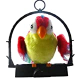 Mamum, pappagallo parlante giocattolo, elettrico, registra e ripete tutto ciò che gli dici e sbatte le ali, per un regalo divertente