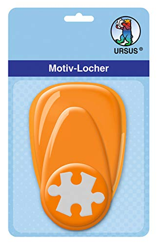 Ursus 19480057 - Motivlocher mit Hebel, mittel, Puzzle, ca. 25,4 mm, orange