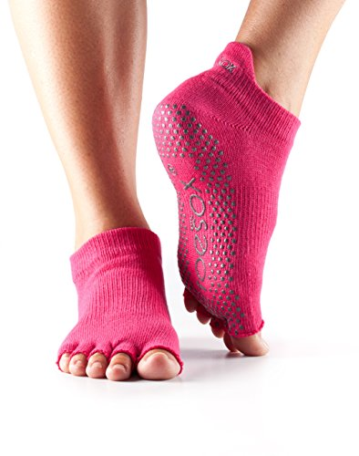 ToeSox Half Toe Low Rise Yoga-Socken, Unisex Erwachsene S Fuchsia