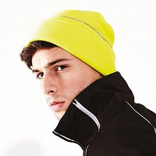 Enhanced-viz bonnet tricoté