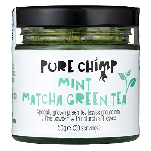 PureChimp Mint Matcha Green Tea Jar, 50 g