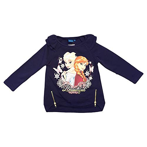 Felpa maxi maglietta frozen elsa anna disney bambina sun city taglie 4/8 anni - rh1095blu
